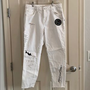 Zara X Maui and Sons White Jeans